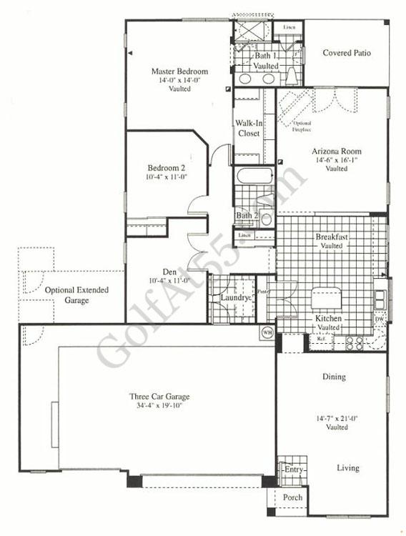 Arizona traditions surprise az floor plans models for Continental homes floor plans arizona