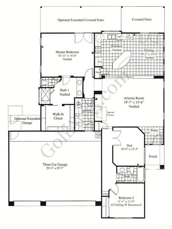 Continental homes floor plans arizona for Az house plans
