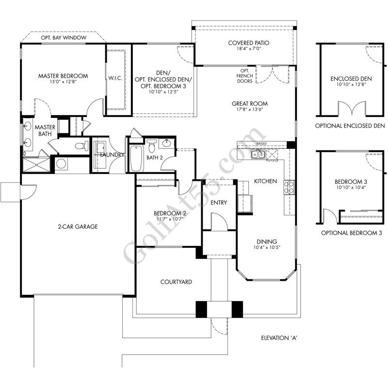 CantaMia at Estrella, Goodyear AZ   Floor Plans & Models   GolfAt55.com