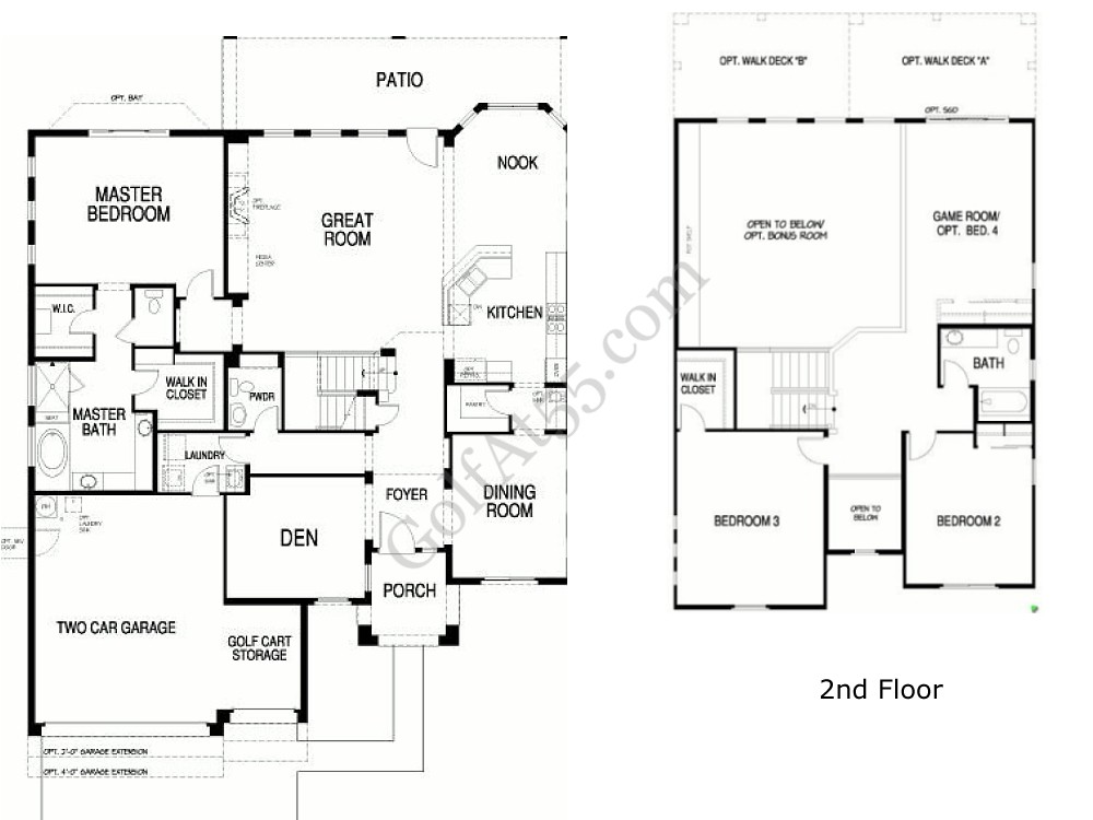Robson Ranch, Eloy AZ | Floor Plans & Models | GolfAt55.com