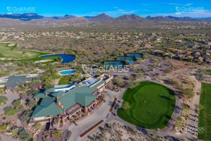 Ironwood Clubhouse, aerial view