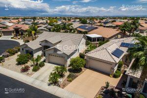 Aerial views of homes