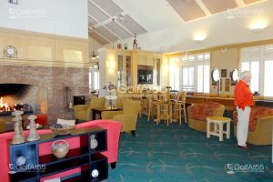 Clubhouse lobby