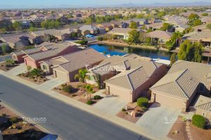 Province, aerial view of homes